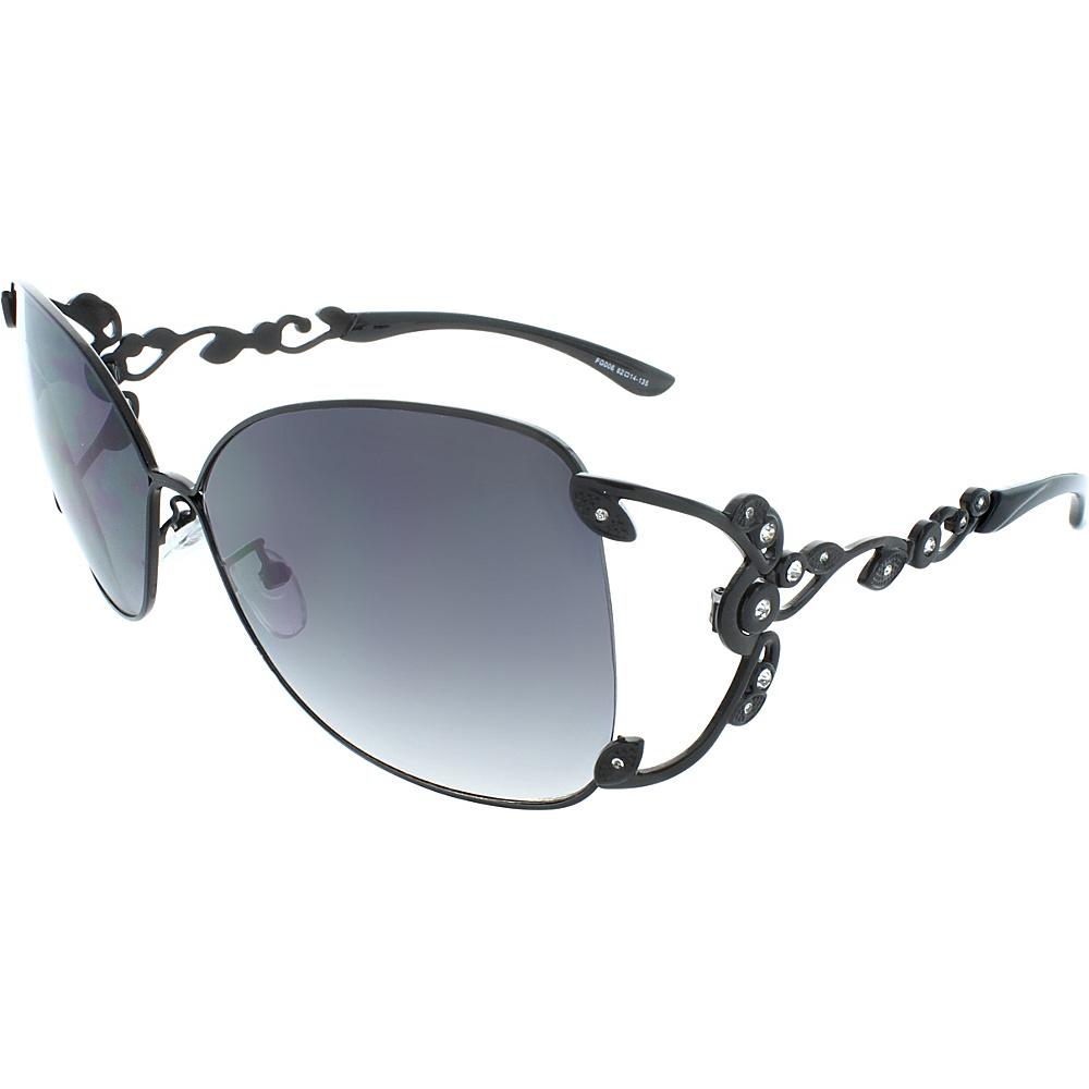 SW Global Polished Metal 59mm Square Sunglasses Black - SW Global Eyewear - Fashion Accessories, Eyewear