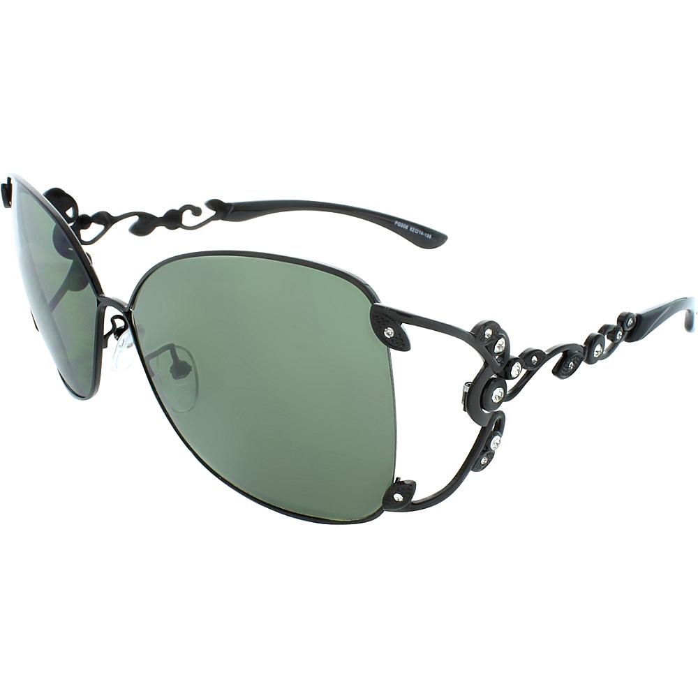 SW Global Polished Metal 59mm Square Sunglasses Smoke - SW Global Eyewear - Fashion Accessories, Eyewear