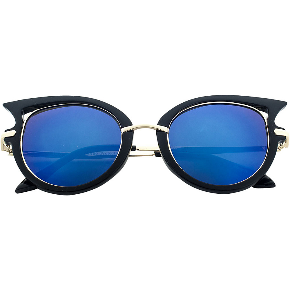 SW Global Designer High Fashion Winged Tip UV400 Sunglasses Blue - SW Global Eyewear - Fashion Accessories, Eyewear