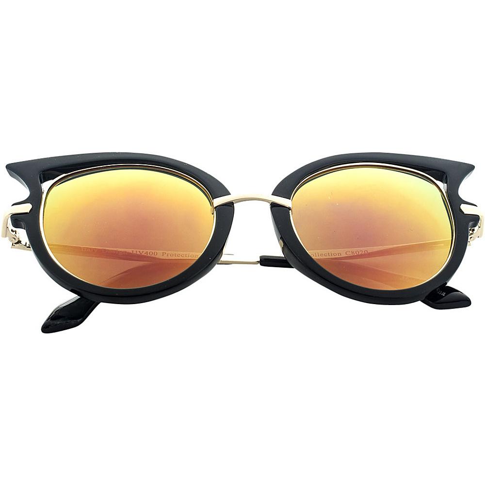 SW Global Designer High Fashion Winged Tip UV400 Sunglasses Orange - SW Global Eyewear - Fashion Accessories, Eyewear