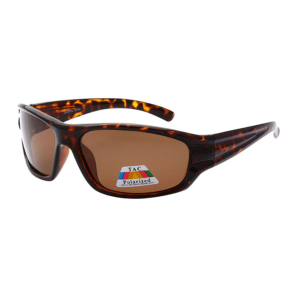 SW Global Polarized Sporty Square Framed Polarized UV400 Sunglasses Leopard Brown - SW Global Eyewear - Fashion Accessories, Eyewear