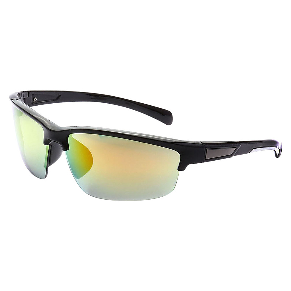 SW Global Half Framed Outdoors Sports UV400 Sunglasses Black White Green Orange - SW Global Eyewear - Fashion Accessories, Eyewear