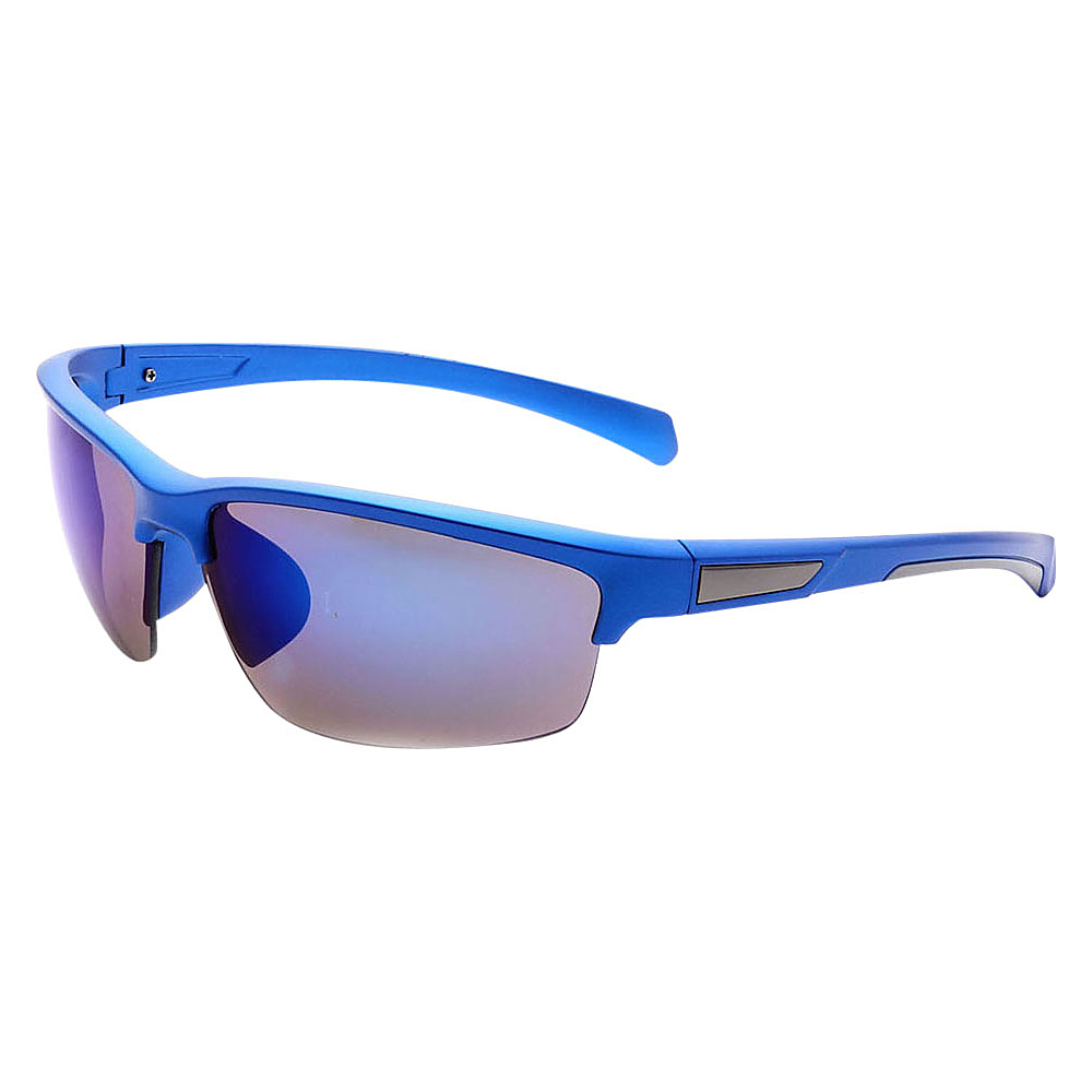 SW Global Half Framed Outdoors Sports UV400 Sunglasses Blue White Blue - SW Global Eyewear - Fashion Accessories, Eyewear