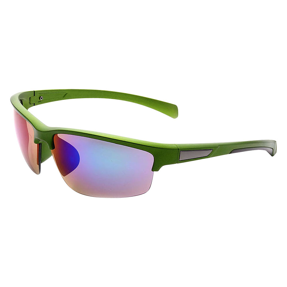 SW Global Half Framed Outdoors Sports UV400 Sunglasses Green Black Purple Blue - SW Global Eyewear - Fashion Accessories, Eyewear