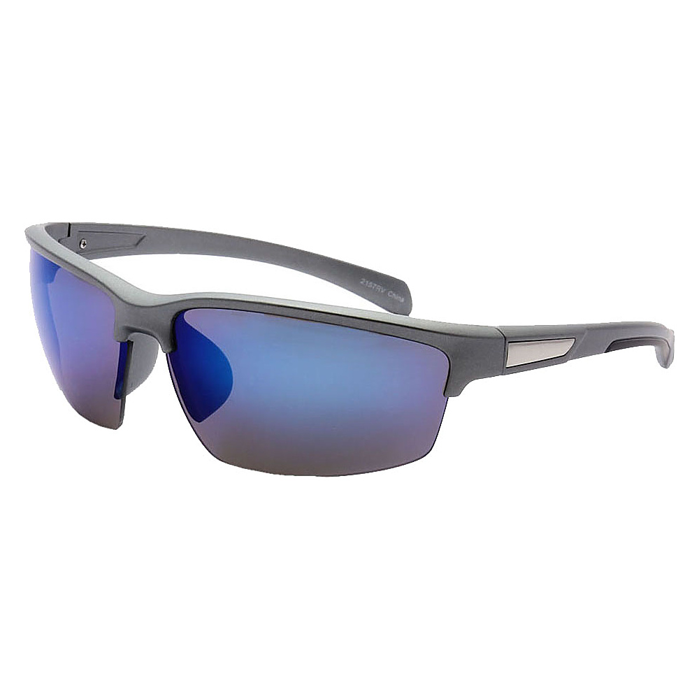 SW Global Half Framed Outdoors Sports UV400 Sunglasses Grey Black Blue - SW Global Eyewear - Fashion Accessories, Eyewear