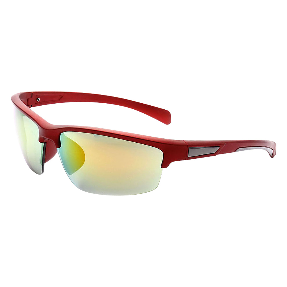SW Global Half Framed Outdoors Sports UV400 Sunglasses Red White Yellow Green - SW Global Eyewear - Fashion Accessories, Eyewear