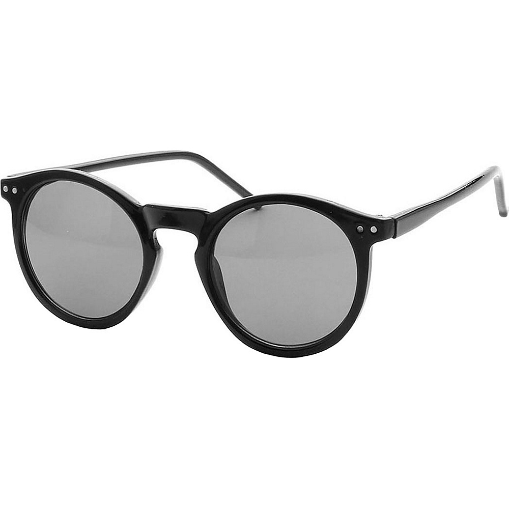 SW Global Retro British Fashion Keyhole Round Frame Sunglasses Black - SW Global Eyewear - Fashion Accessories, Eyewear