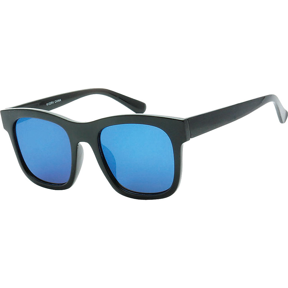 SW Global Retro Street Fashion Thick Frame Horn Rimmed Sunglasses Blue - SW Global Eyewear - Fashion Accessories, Eyewear