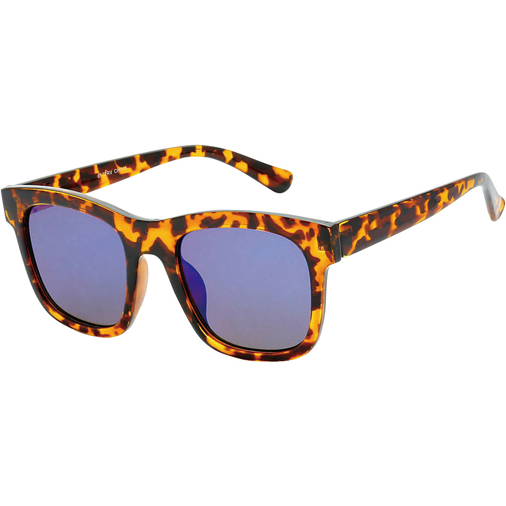 SW Global Retro Street Fashion Thick Frame Horn Rimmed Sunglasses Leopard Purple - SW Global Eyewear - Fashion Accessories, Eyewear