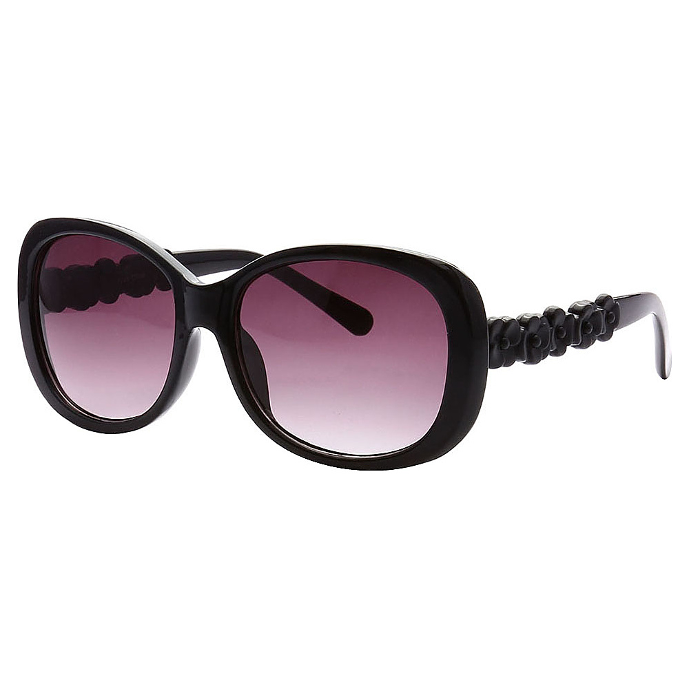 SW Global Womens Manhattan Oversized Elegant Fashion Sunglasses Black - SW Global Eyewear - Fashion Accessories, Eyewear