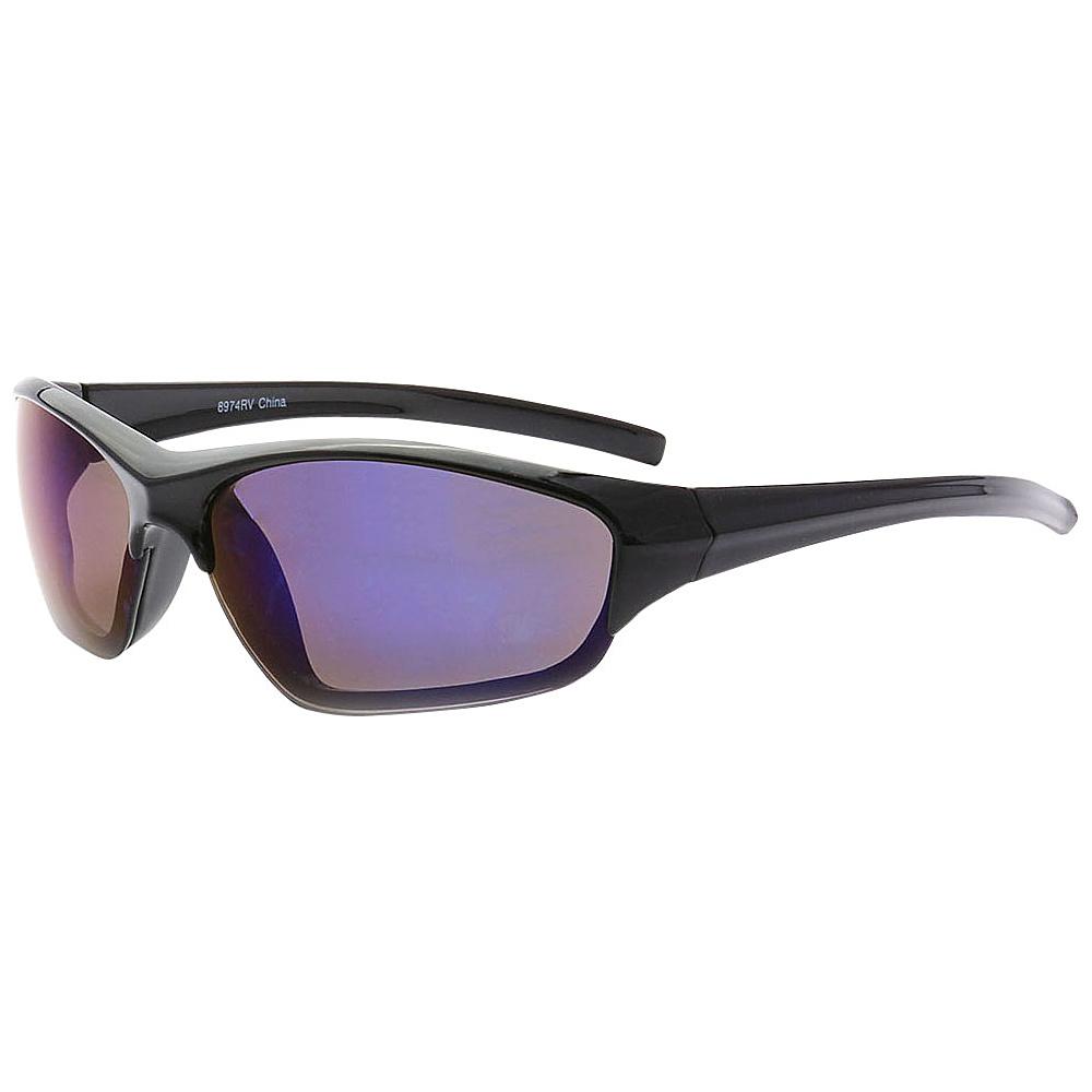 SW Global Full Framed Outdoors Sports UV400 Sunglasses Black Blue - SW Global Eyewear - Fashion Accessories, Eyewear