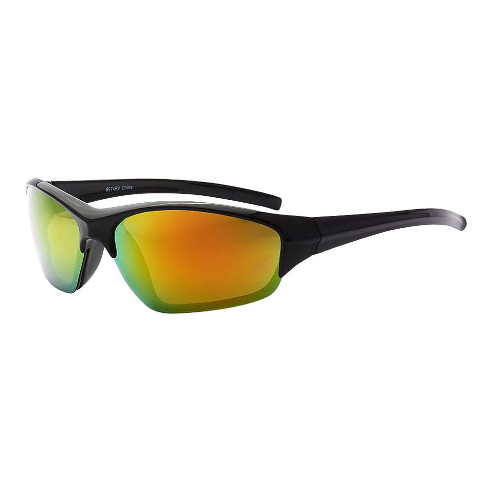 SW Global Full Framed Outdoors Sports UV400 Sunglasses Black Orange Yellow Green - SW Global Eyewear - Fashion Accessories, Eyewear