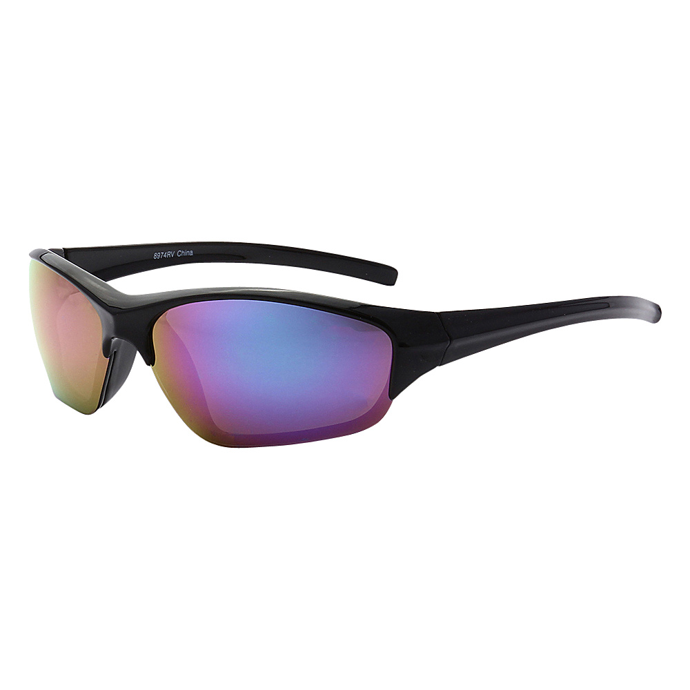 SW Global Full Framed Outdoors Sports UV400 Sunglasses Black Purple Blue - SW Global Eyewear - Fashion Accessories, Eyewear