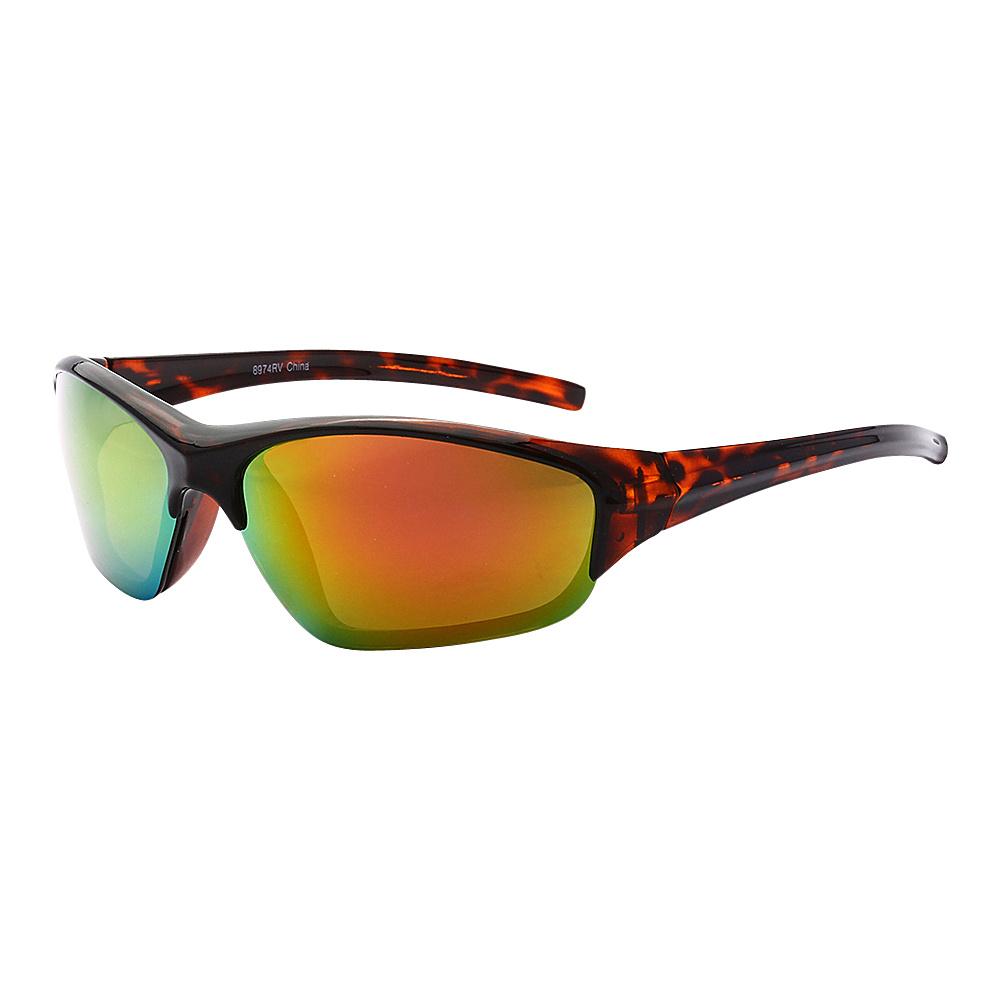 SW Global Full Framed Outdoors Sports UV400 Sunglasses Leopard Orange Green - SW Global Eyewear - Fashion Accessories, Eyewear