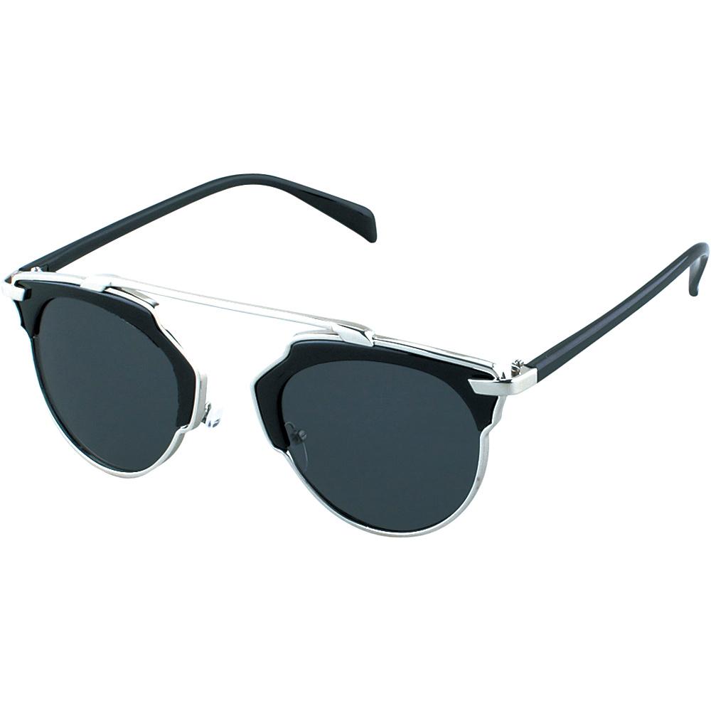 SW Global Womens Urban Street Fashion Uni brow Top Bar Sunglasses Silver - SW Global Eyewear - Fashion Accessories, Eyewear