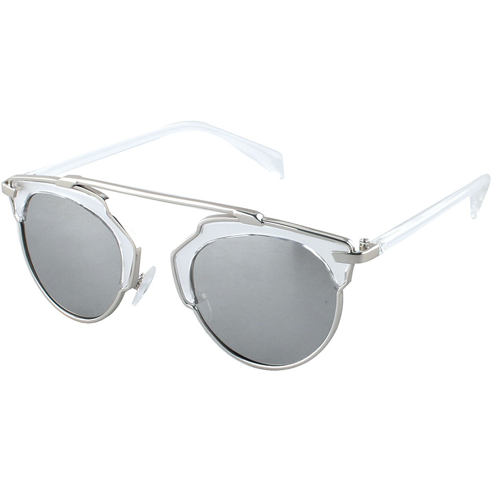 SW Global Womens Urban Street Fashion Uni brow Top Bar Sunglasses White - SW Global Eyewear - Fashion Accessories, Eyewear