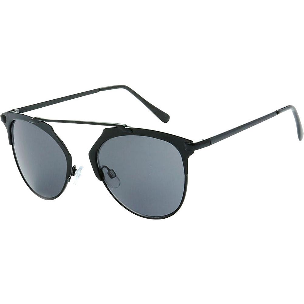 SW Global Urban Hipster Fashion Uni Brow Metallic Collection Sunglasses Black - SW Global Eyewear - Fashion Accessories, Eyewear