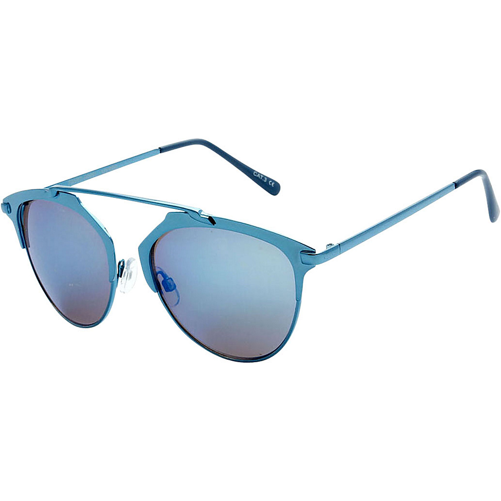 SW Global Urban Hipster Fashion Uni Brow Metallic Collection Sunglasses Blue - SW Global Eyewear - Fashion Accessories, Eyewear