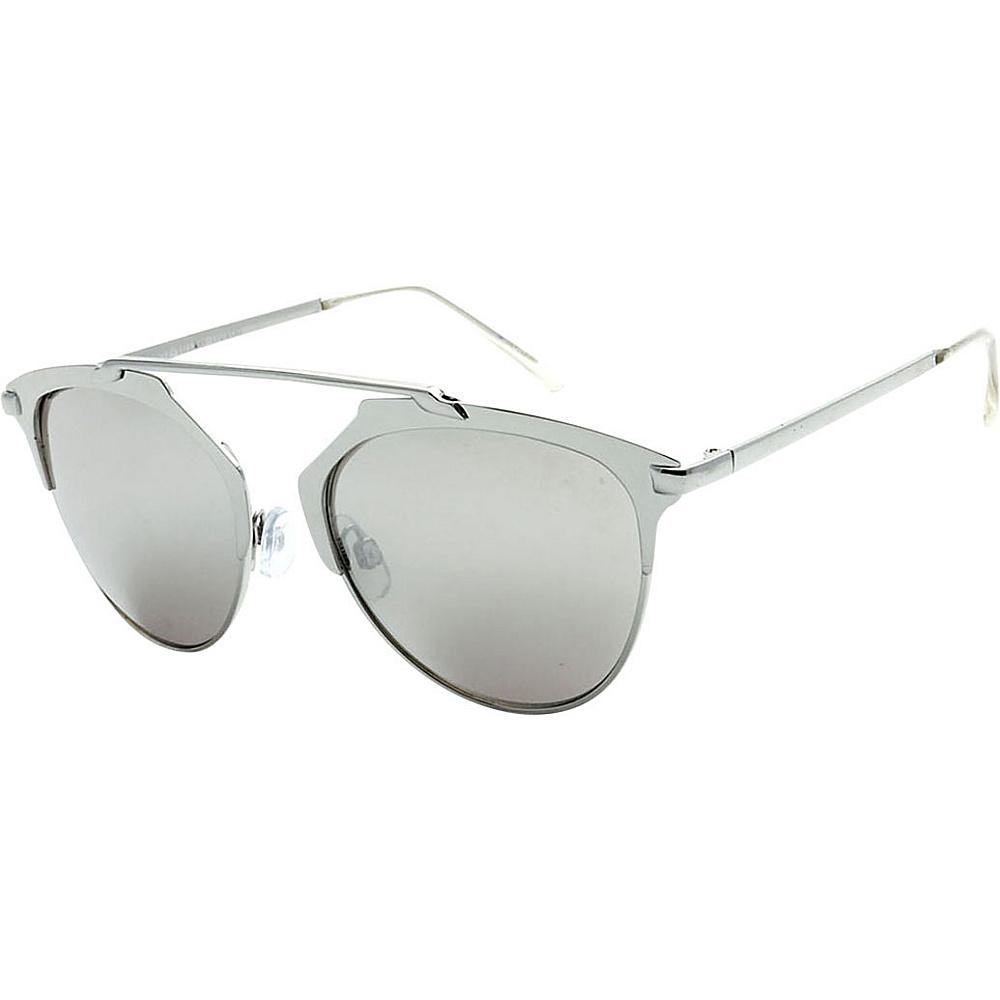 SW Global Urban Hipster Fashion Uni Brow Metallic Collection Sunglasses Silver - SW Global Eyewear - Fashion Accessories, Eyewear