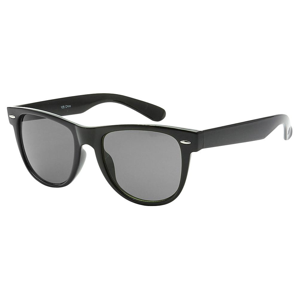 SW Global Full Framed Sporty Retro Square UV400 Sunglasses Black Black - SW Global Eyewear - Fashion Accessories, Eyewear