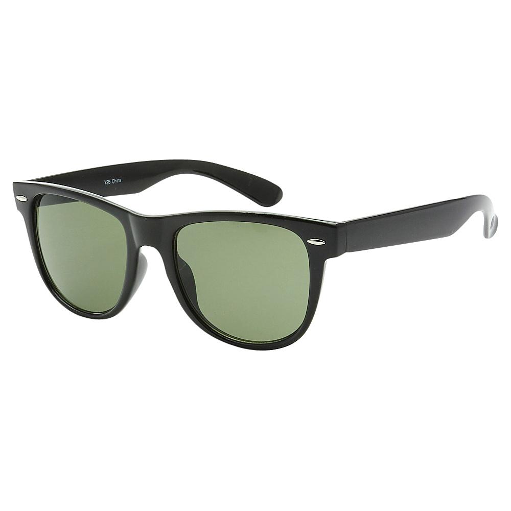 SW Global Full Framed Sporty Retro Square UV400 Sunglasses Black G5 - SW Global Eyewear - Fashion Accessories, Eyewear