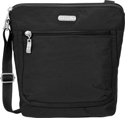 baggallini Pocket Medium Crossbody Black/Sand Lining - baggallini Fabric Handbags