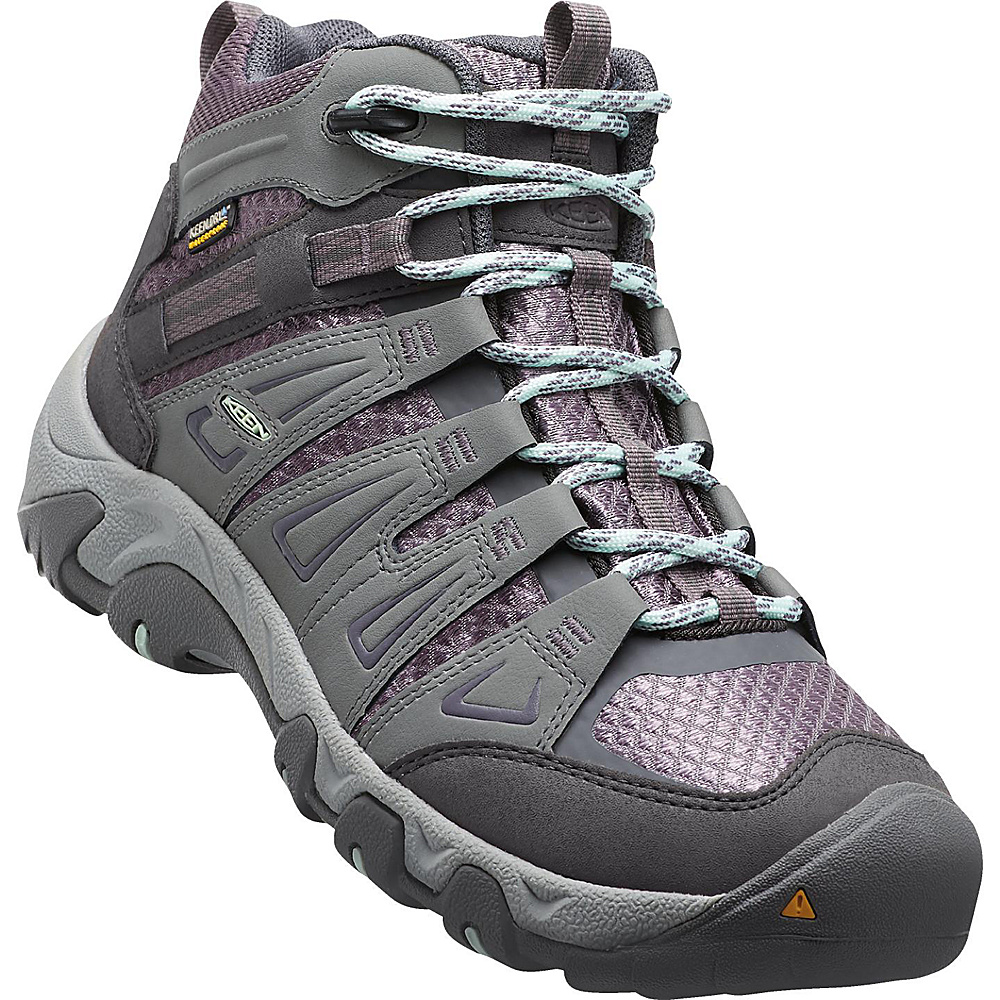 KEEN Womens Oakridge Mid Waterproof Boot 10 - W (Wide) - Gray/Shark - KEEN Womens Footwear - Apparel & Footwear, Women's Footwear