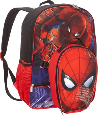 Marvel GDC Spiderman Backpack with Lunch Box Black - Marvel GDC Kids' Backpacks 10589506