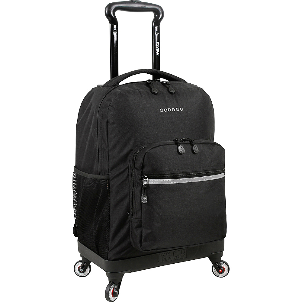 J World New York Sunslider Spinner Backpack Black - J World New York Wheeled Backpacks - Backpacks, Wheeled Backpacks