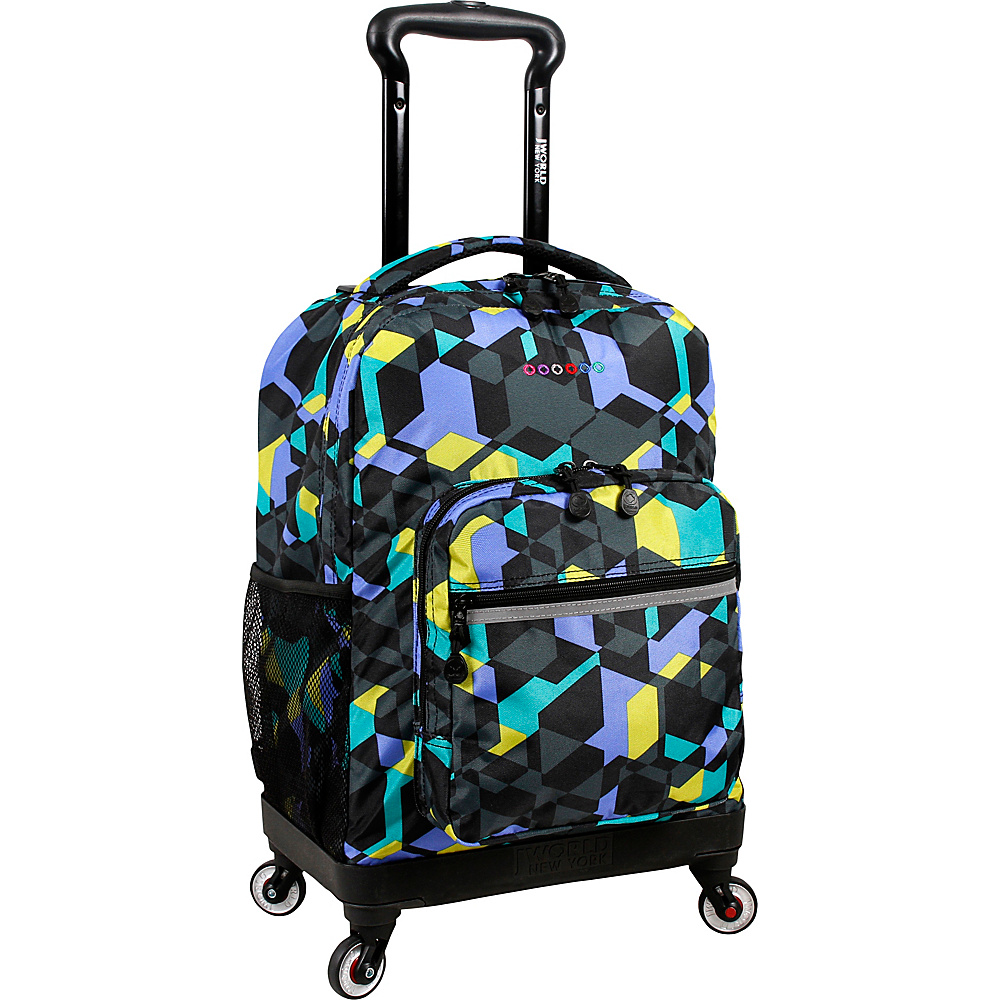 J World New York Sunslider Spinner Backpack Cubes - J World New York Wheeled Backpacks - Backpacks, Wheeled Backpacks