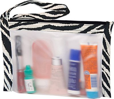 Flanabags AirQuart TSA-Compliant Clear Carry-on Quart Size Toiletry Bag Zebra - Flanabags Toiletry Kits