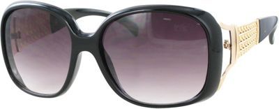 Kay Unger Oversized Sunglasses Black/Gradient Smoke Lens - Kay Unger Eyewear