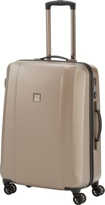 Titan Bags Xenon Deluxe 28 inch Expandable Hardside Checked Spinner Luggage Champagne - Titan Bags Large Rolling Luggage