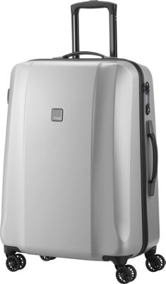 Titan Bags Xenon Deluxe 28 inch Expandable Hardside Checked Spinner Luggage Silver - Titan Bags Large Rolling Luggage
