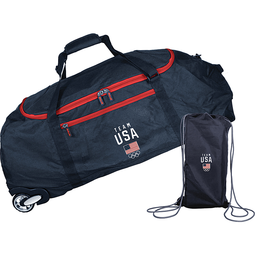 MOJO Denco Team USA Olympics 36 Ultimate Collapsible Wheeled Duffel Black - MOJO Denco Travel Duffels - Duffels, Travel Duffels