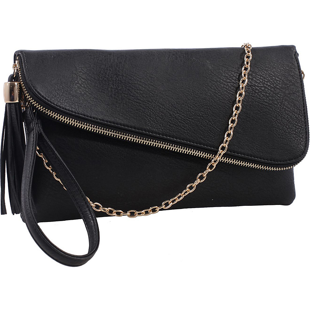 MKF Collection by Mia K. Farrow Lexy Convertible Wristlet/Crossbody Black - MKF Collection by Mia K. Farrow Manmade Handbags - Handbags, Manmade Handbags