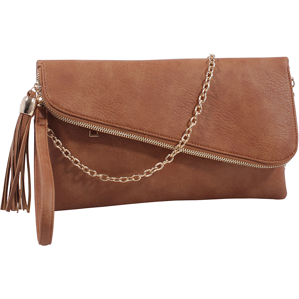 MKF Collection by Mia K. Farrow Lexy Convertible Wristlet/Crossbody Brown - MKF Collection by Mia K. Farrow Manmade Handbags - Handbags, Manmade Handbags