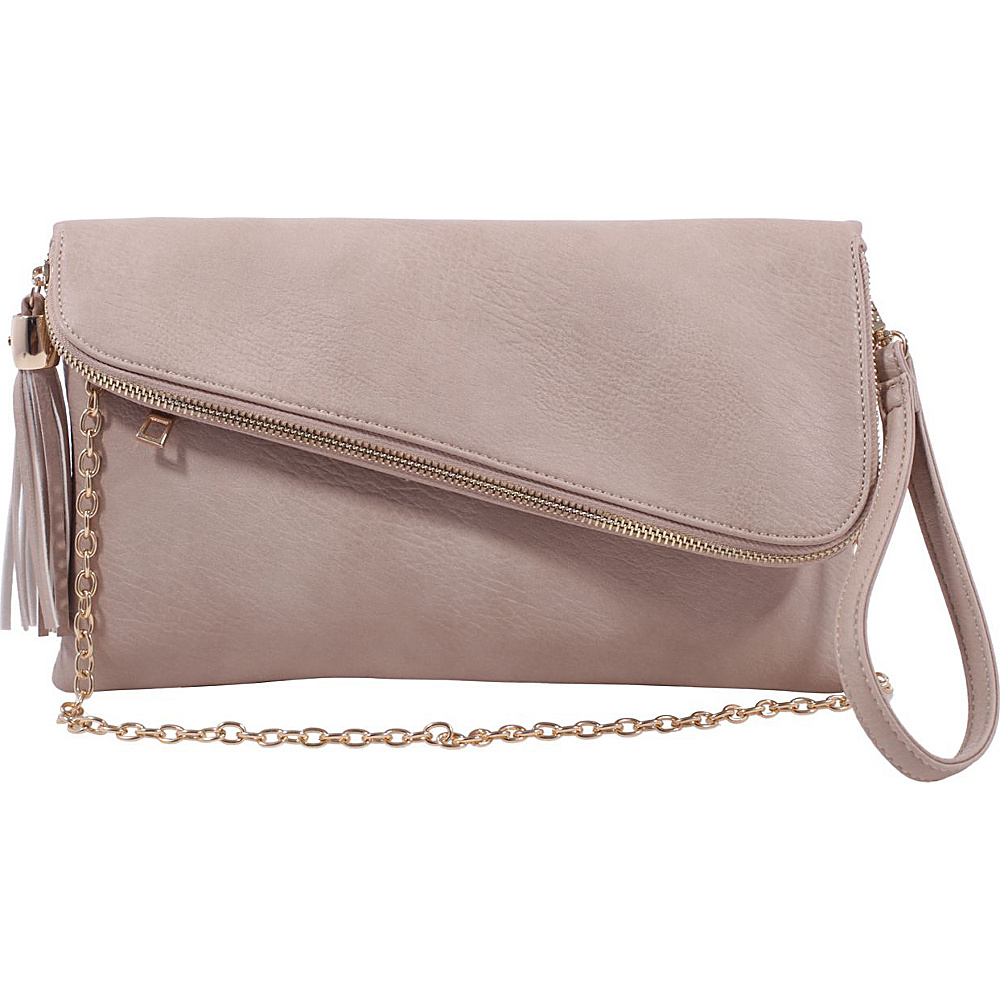 MKF Collection by Mia K. Farrow Lexy Convertible Wristlet/Crossbody Taupe - MKF Collection by Mia K. Farrow Manmade Handbags - Handbags, Manmade Handbags