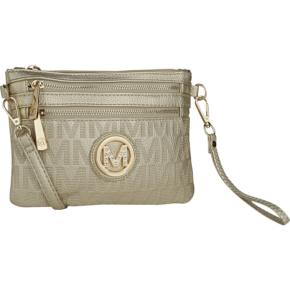 MKF Collection by Mia K. Farrow Roonie M Signature Crossbody Gold - MKF Collection by Mia K. Farrow Manmade Handbags - Handbags, Manmade Handbags