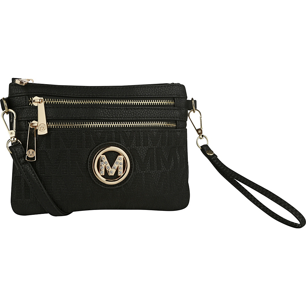 MKF Collection by Mia K. Farrow Roonie M Signature Crossbody Black - MKF Collection by Mia K. Farrow Manmade Handbags - Handbags, Manmade Handbags