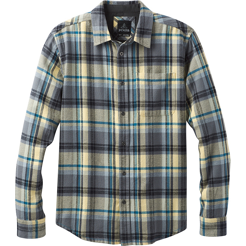 PrAna Woodman Shirt S - Gravel - PrAna Mens Apparel - Apparel & Footwear, Men's Apparel