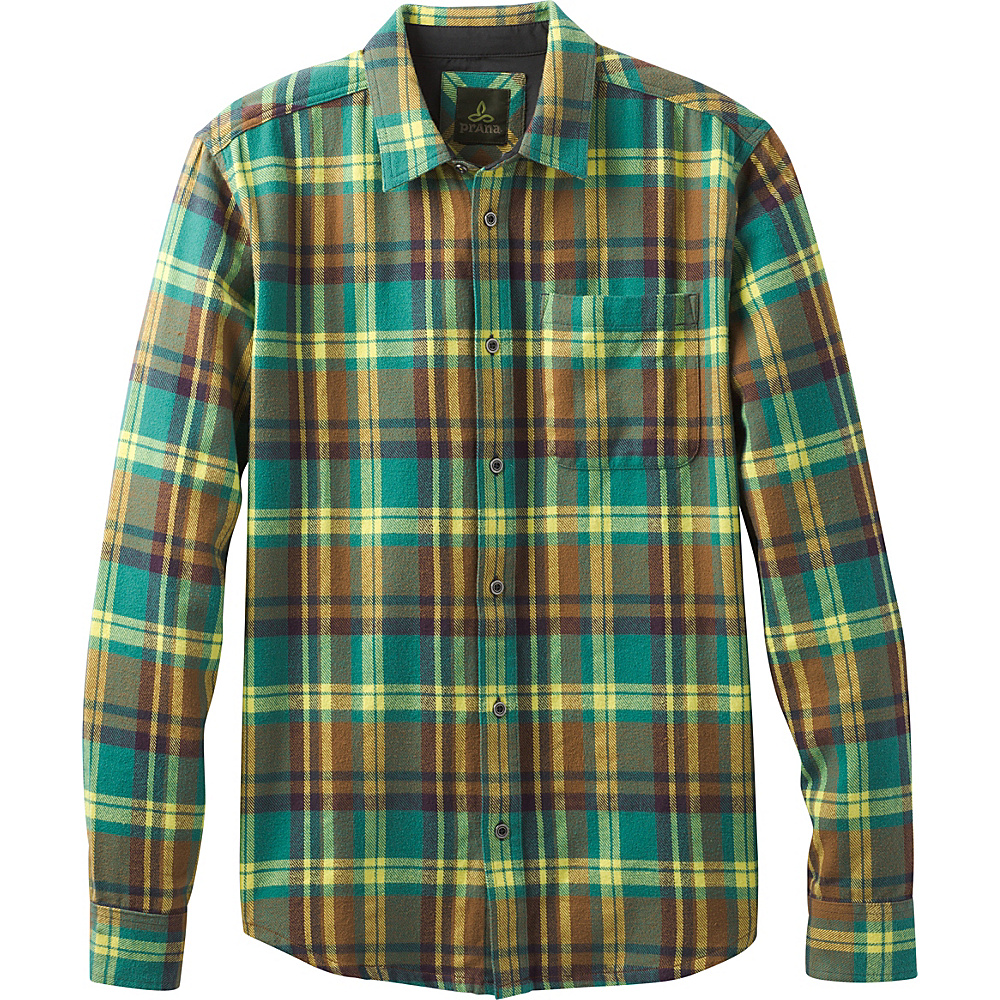 PrAna Woodman Shirt L - Juniper - PrAna Mens Apparel - Apparel & Footwear, Men's Apparel