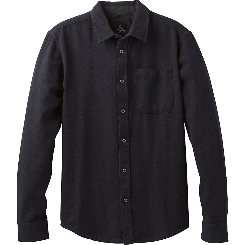 PrAna Woodman Shirt S - Solid Black - PrAna Mens Apparel - Apparel & Footwear, Men's Apparel