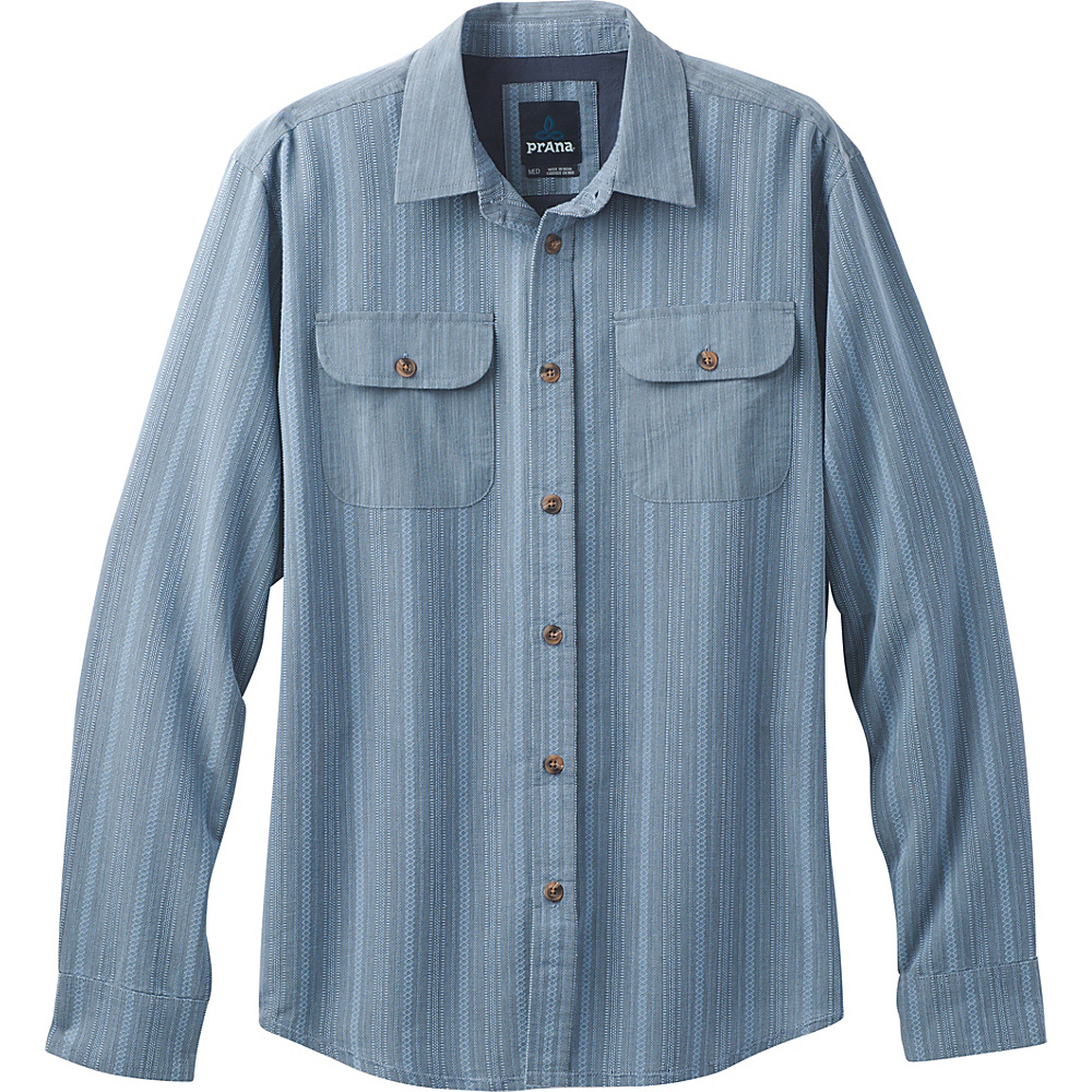 PrAna Rennin Shirt S - Aspen Blue - PrAna Mens Apparel - Apparel & Footwear, Men's Apparel