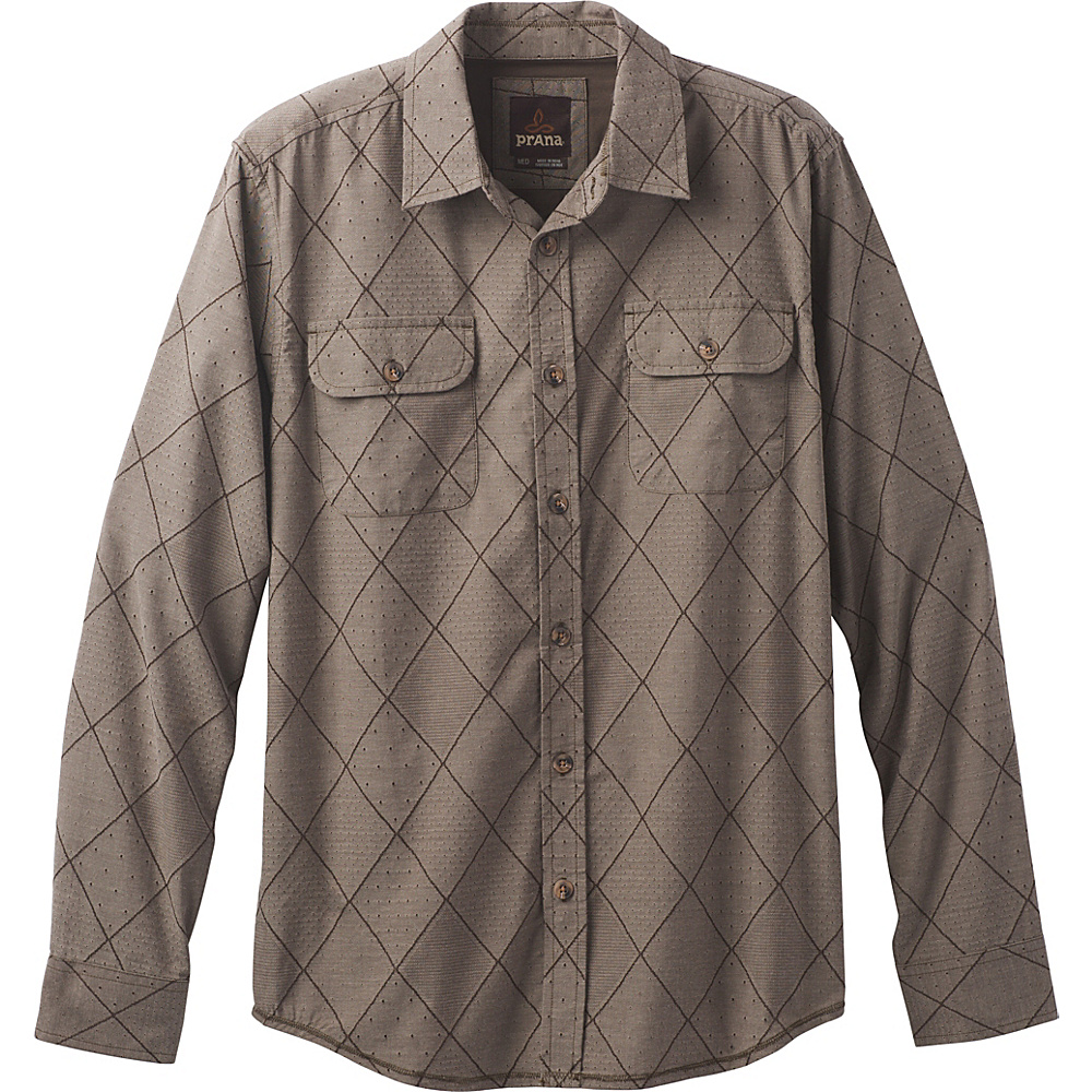PrAna Rennin Shirt M - Brown - PrAna Mens Apparel - Apparel & Footwear, Men's Apparel