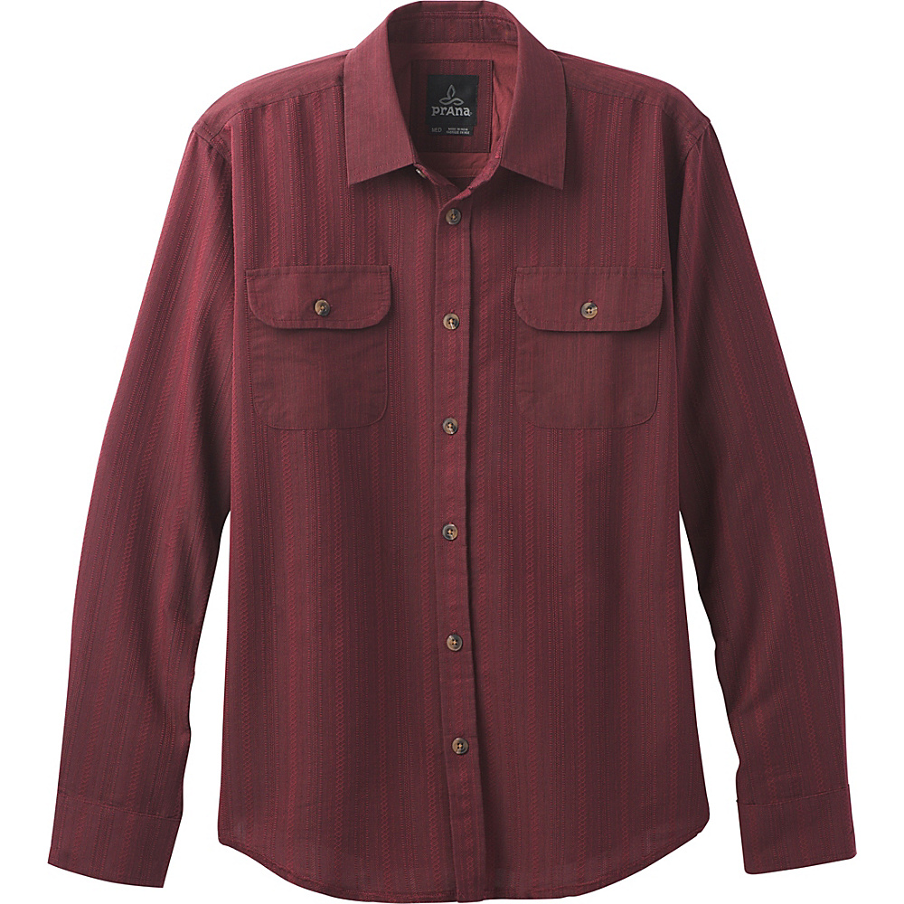 PrAna Rennin Shirt S - Red Umber - PrAna Mens Apparel - Apparel & Footwear, Men's Apparel