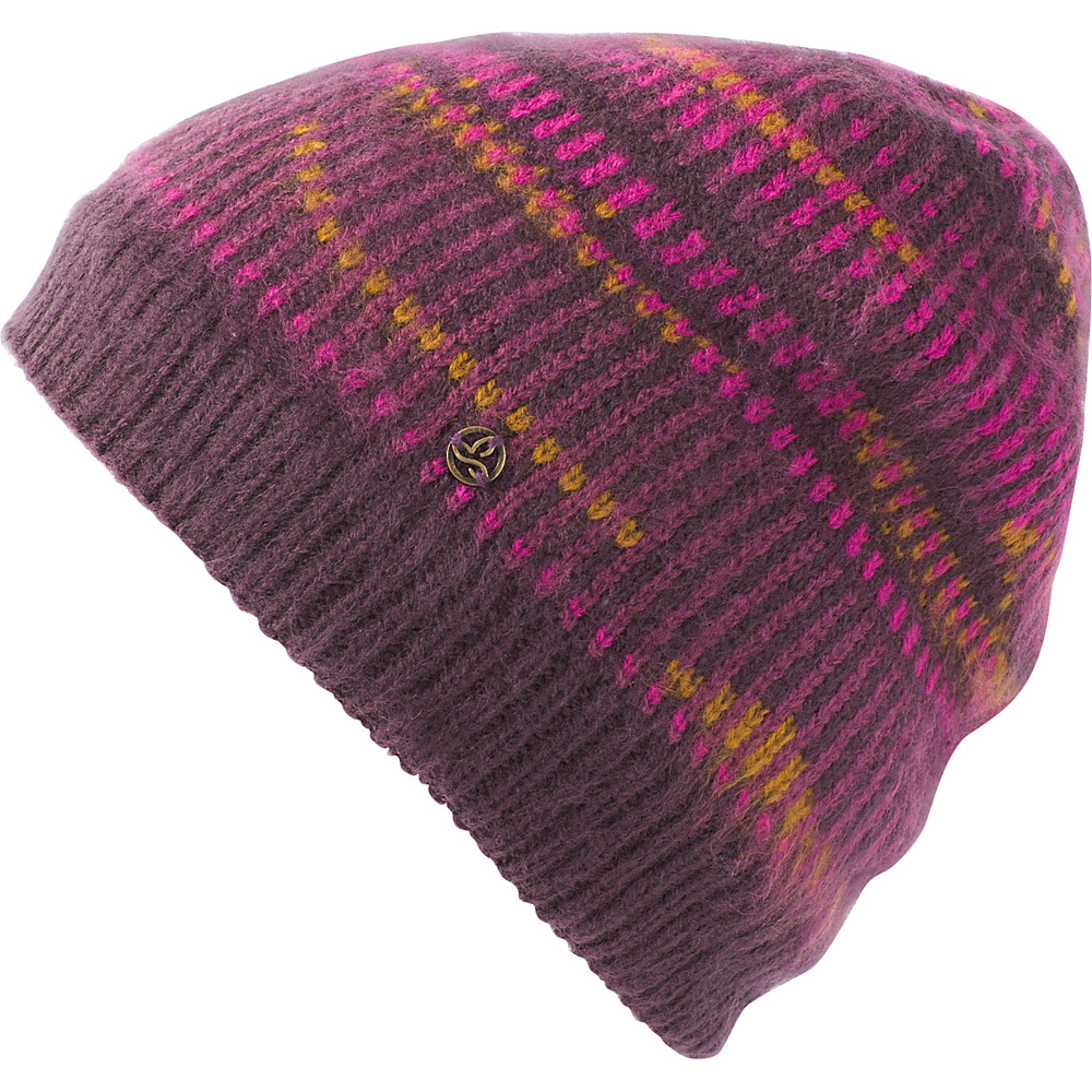 PrAna Hahna Beanie One Size - Dark Plum - PrAna Hats - Fashion Accessories, Hats