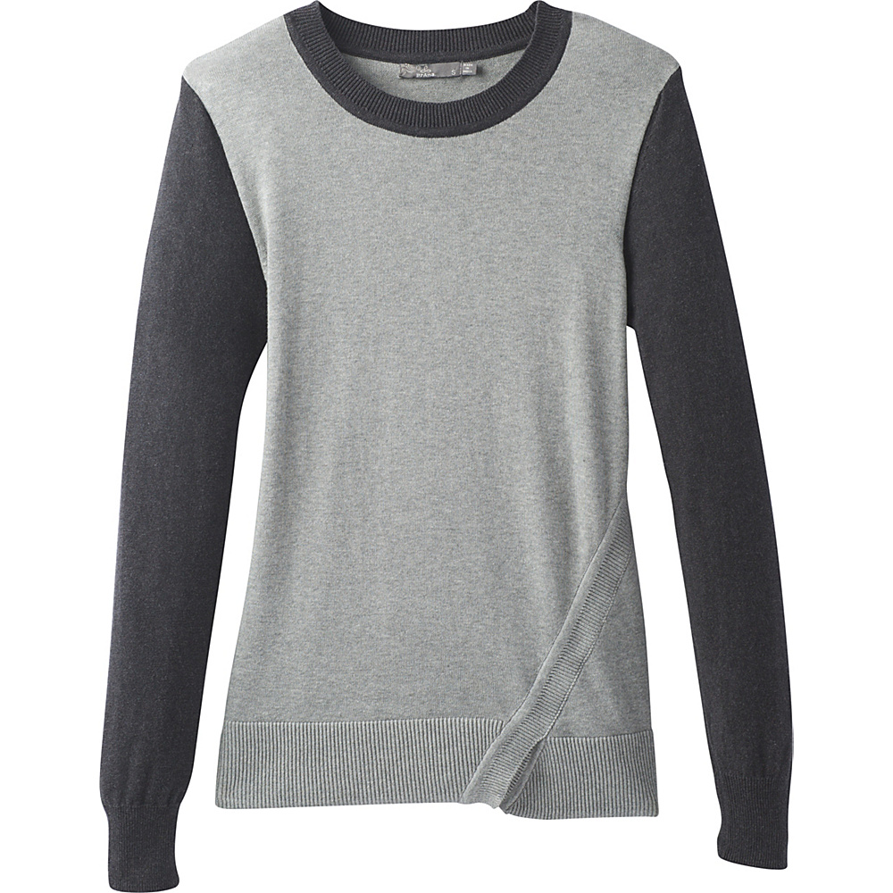 PrAna Ansleigh Sweater M - Gravel Combo - PrAna Womens Apparel - Apparel & Footwear, Women's Apparel