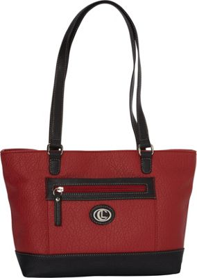 Aurielle-Carryland Square Pocket Tote Red/Black - Aurielle-Carryland Manmade Handbags