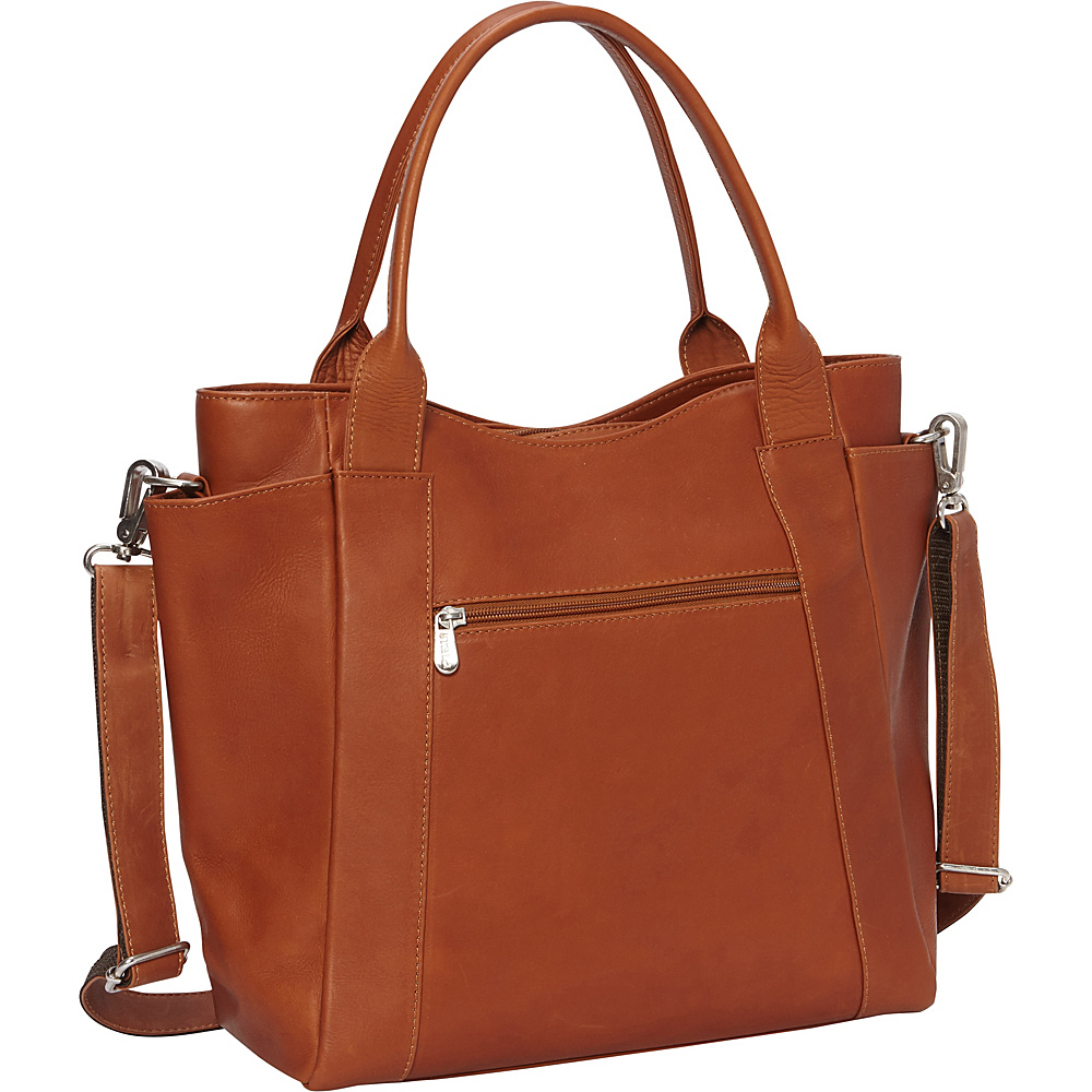 Piel Street Tote Saddle - Piel Leather Handbags - Handbags, Leather Handbags